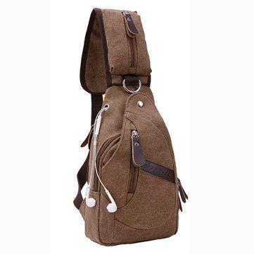 Men PU Leather Retro Portable Leisure Shoulder Bag Chest Bag Crossbody Bag  is worth buying - eeeab0269d51f