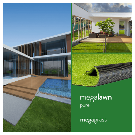 Megagrass Megalawn Pure 8 X 10 Ft Artificial Grass For Pet Lawn And Landscaping Indoor Outdoor Area Rug Green Grass Decor Fake Grass Decor