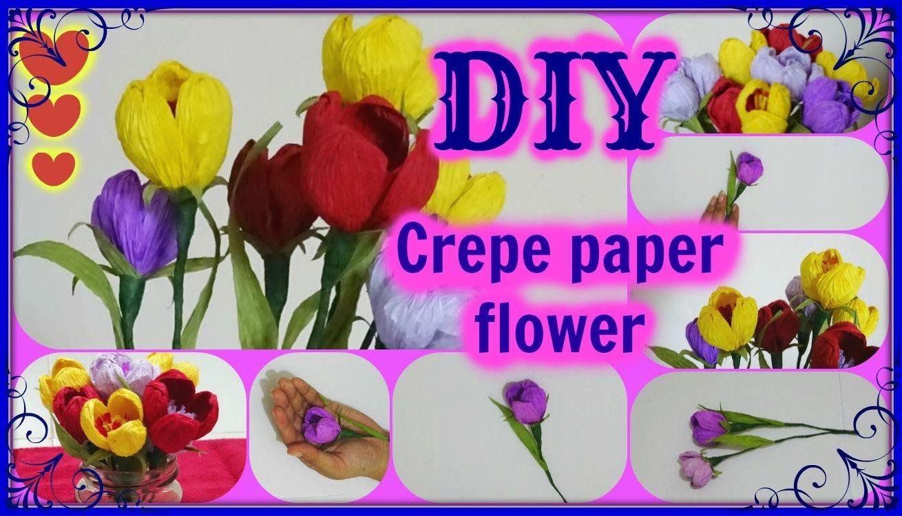 Simple crepe paper flower  diy  paper arts n crafts  Pinterest