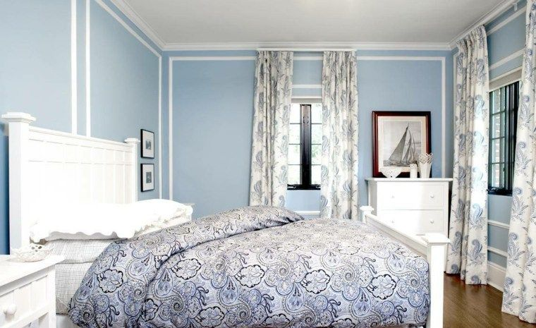 Déco chambre bleu calmante et relaxante en 47 idées design | House