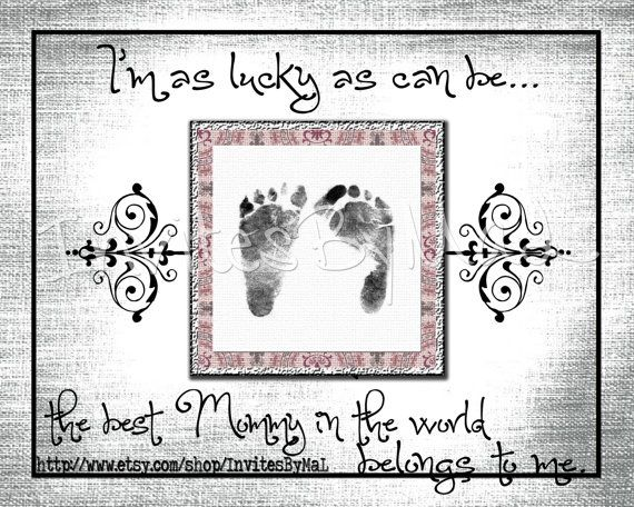 Personalized baby footprint or handprint keepsake gift perfect personalized baby footprint or handprint keepsake gift perfect for fathers day mothers day negle Choice Image