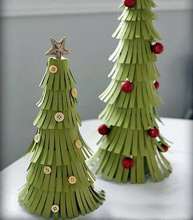 Alberi Di Natale Di Carta.100 Diy Xmas Trees Decorazioni Fai Da Te Albero Natale Alberi Di Carta Alberi Di Natale Di Carta