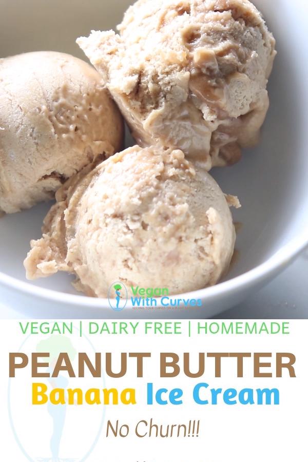 Vegan Peanut Butter Banana Nice Cream No Dairy Video Recipe Video Banana Ice Cream Peanut Butter Banana Vegan Ice Cream Recipe