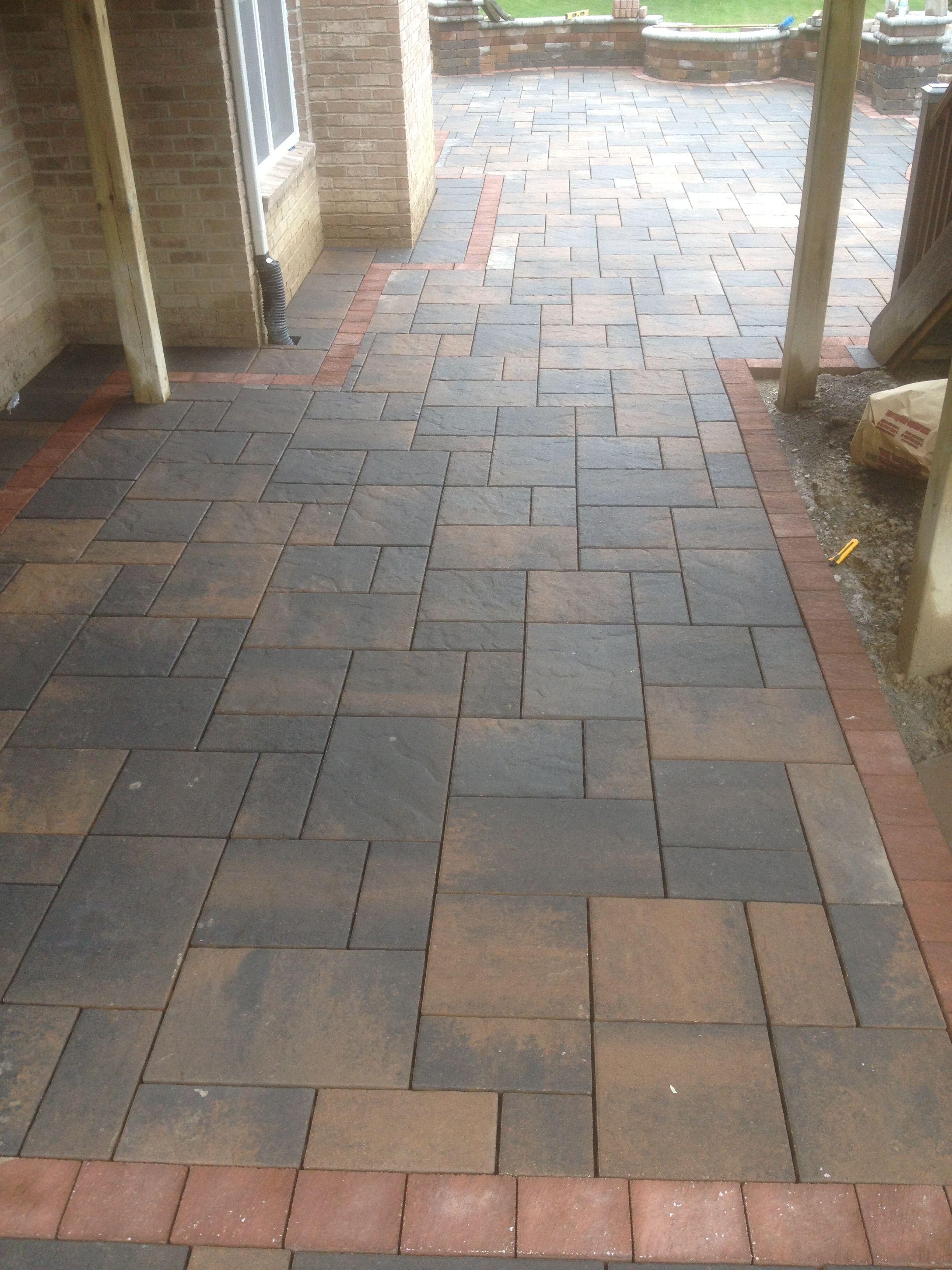 Unilock brick paver brussels beacon hill desert sand for Pinterest patio pavers