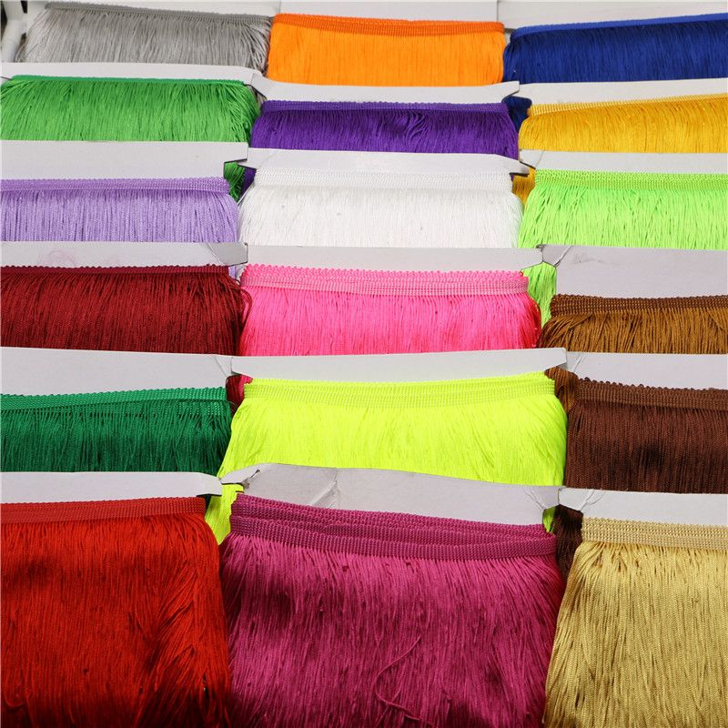 1Yard 3/8'' Width Tassel Polyester Fringe Trim Lace Yarn DIY Sequin Ribbon African Dress Garment Curtain For Sewing-in Lace from Home & Garden on Aliexpress.com | Alibaba Group