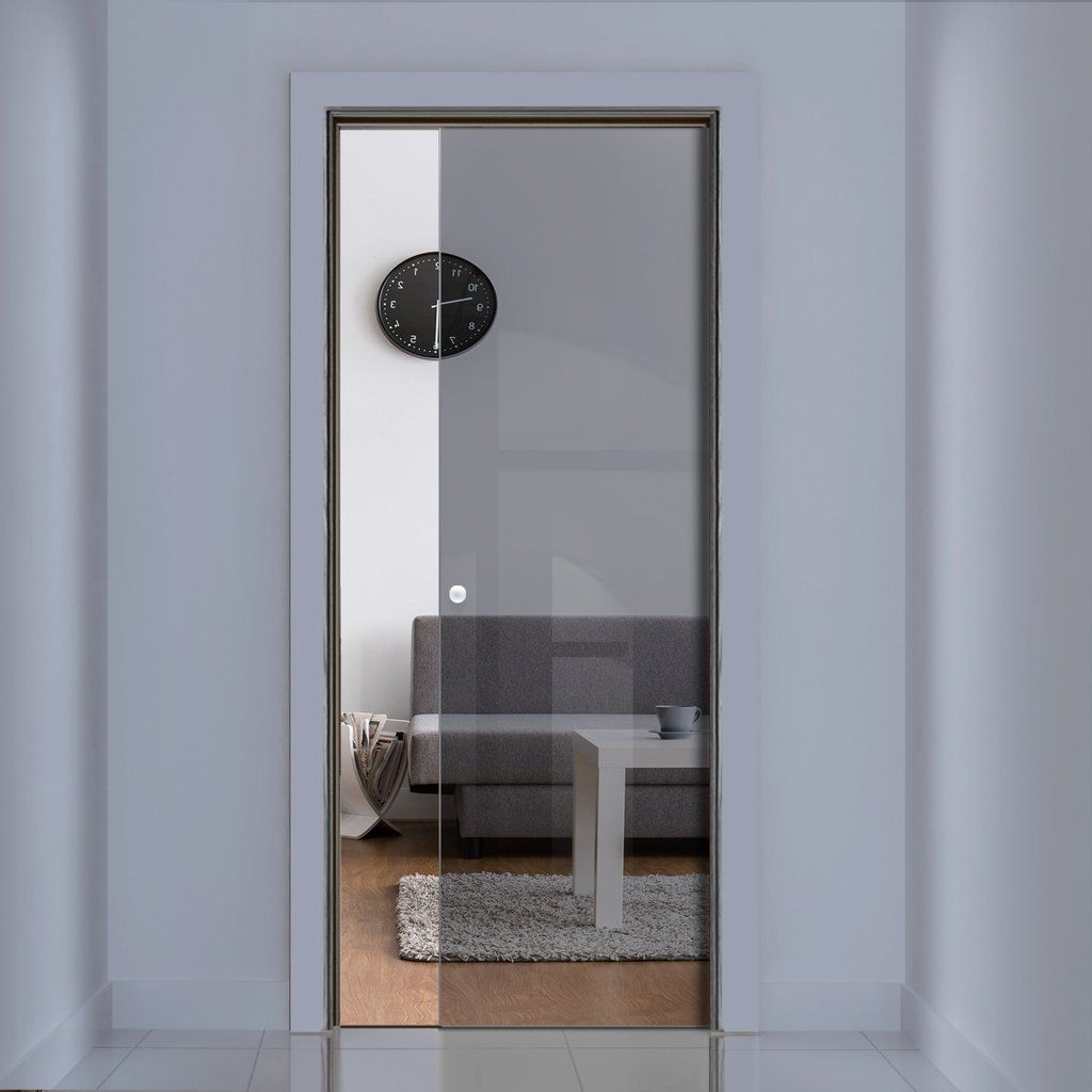 Merveilleux Eclisse 10mm Grey Tinted Glass Pocket Door   No Design. #glasspocketdoors  #internalpocketdoors #framelessglassdoors