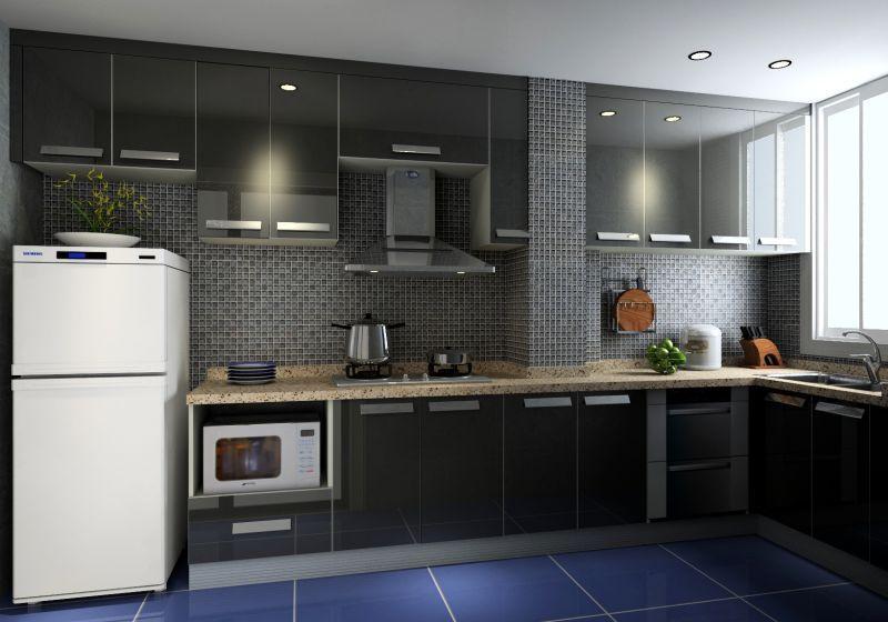 Grey Malanine Kitchen Modern Kitchen Cabinets Supplier In Puchong