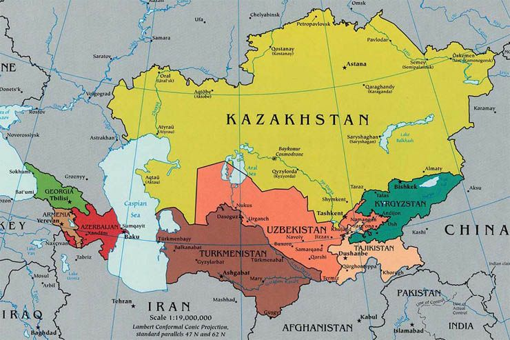 Central And Northern Asia Map Central And Northern Asia Political Map | Map | Central asia map
