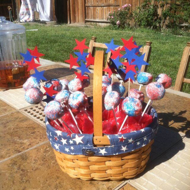 4th Of July Cake Pops Happy Birthday America Food Pinterest