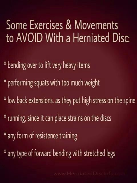 Exercises To Avoid With Herniated Discs In The Back Health And