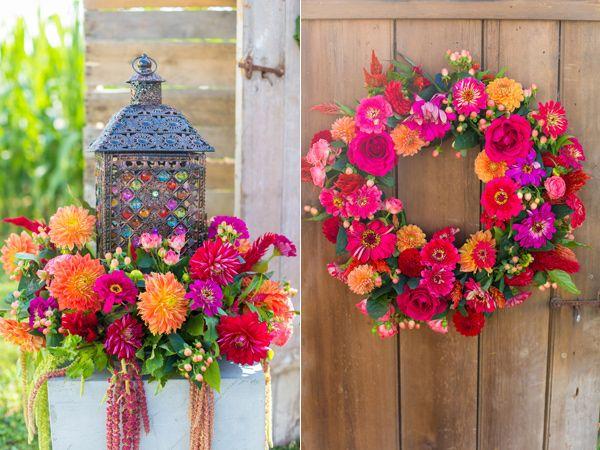 Fiesta on the Farm Wedding Inspiration Wedding flower photos