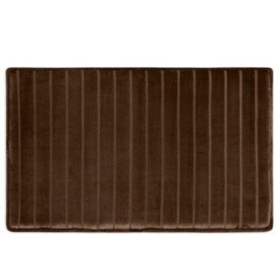 Micro Plush 17 X 24 Memory Foam Bath Mat In Chocolate In 2019