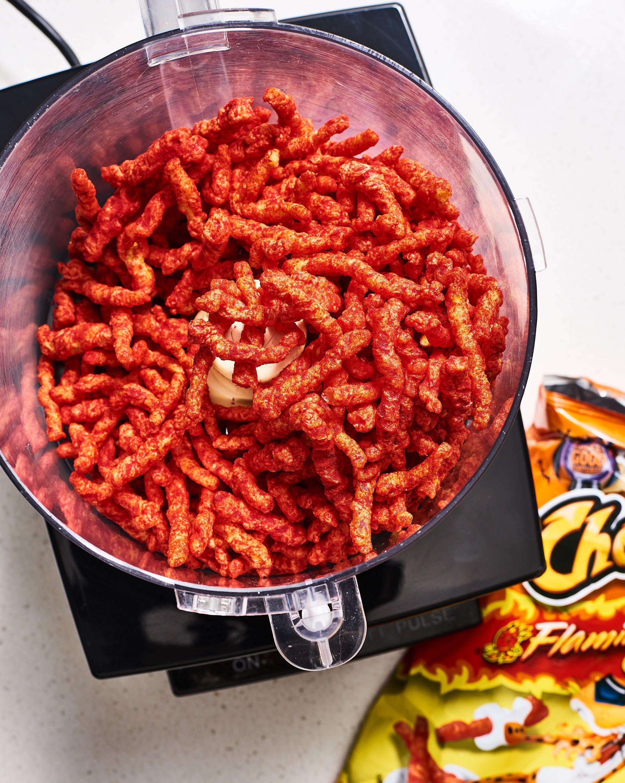 Flamin hot cheetos fried chicken bites recipe chicken