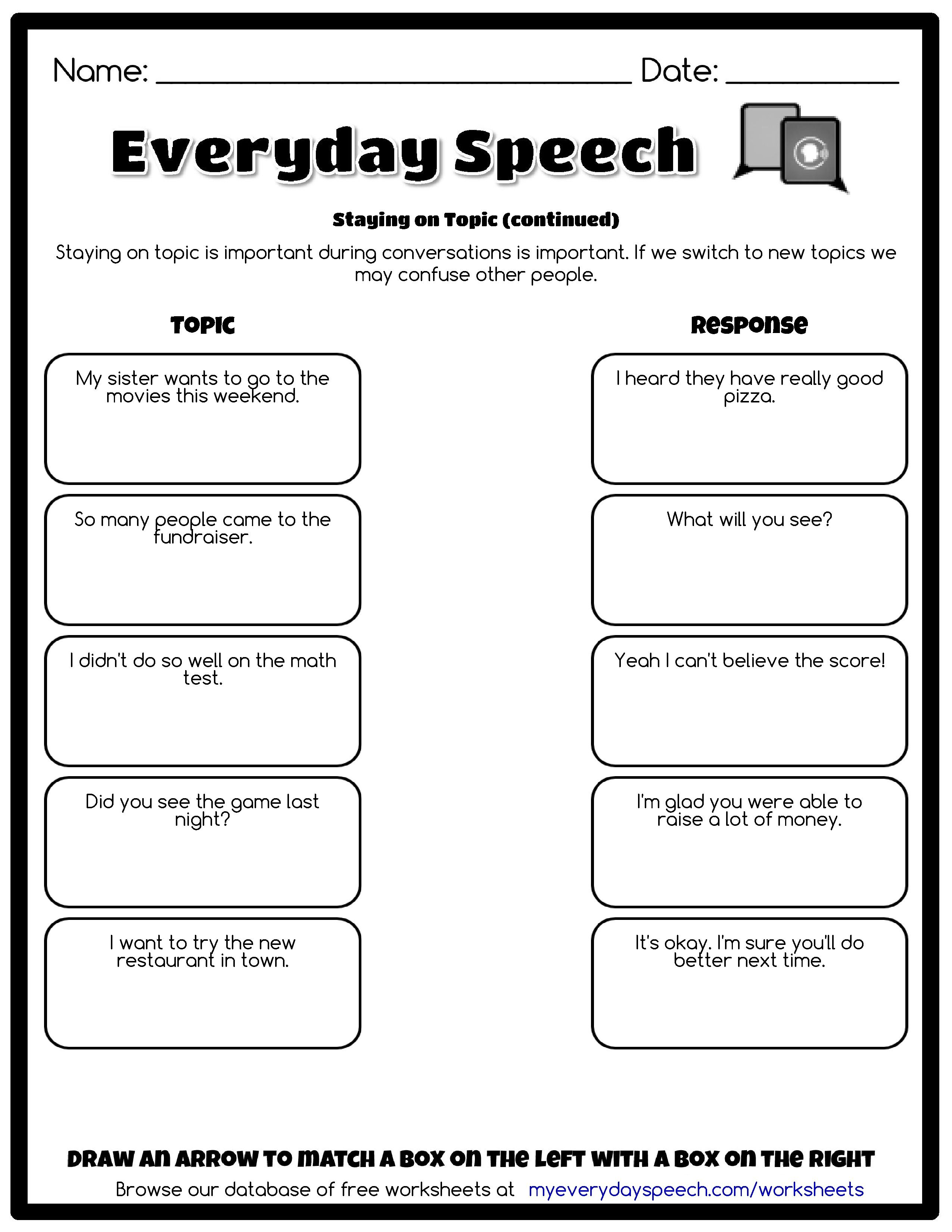 Worksheets Aphasia Therapy Worksheets check out the worksheet i just made using everyday speechs creator staying on topic