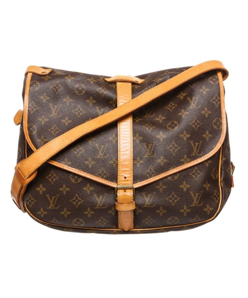 da750d524d7a LOUIS VUITTON Pre Owned - Louis Vuitton Monogram Canvas Leather Saumur 35  Cm Messenger Bag .  louisvuitton  bags  shoulder bags  leather  canvas   lining