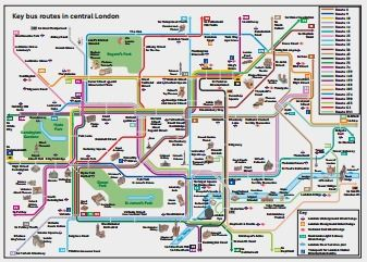 Key bus routes in central london Travel Pinterest London bus