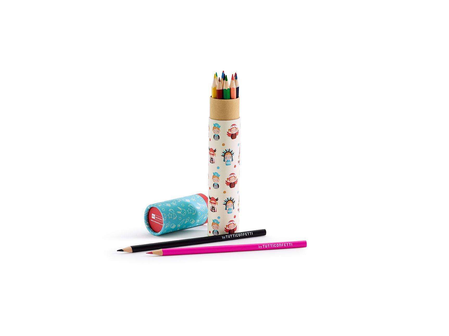 Tubo Lápices Colores Ernest & Valentine diseñado por TuttiConfetti para MIQUELRIUS - Ernest & Valentine Tube Colouring Pencils designed by TuttiConfetti for MIQUELRIUS