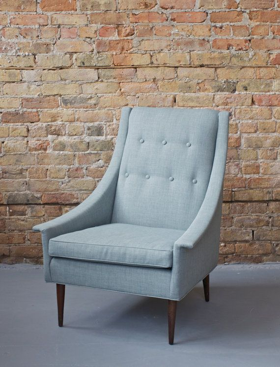 Mid Century Modern Kroehler High / Wing Back Club Chair ...
