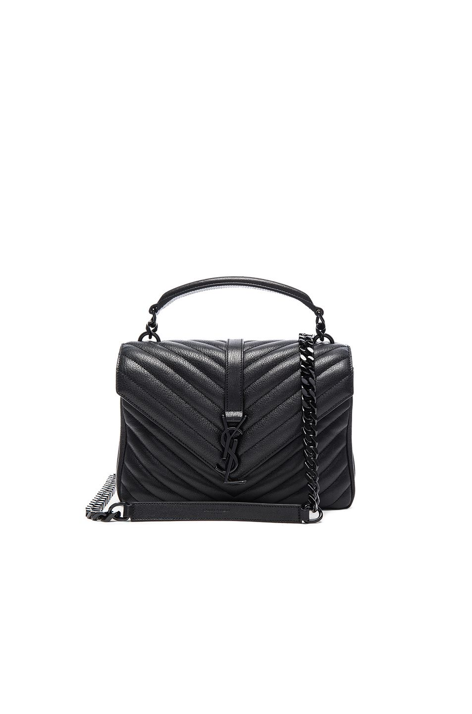 2a348a5f0882 Image 1 of Saint Laurent Medium Monogram College Bag in Black Black ...