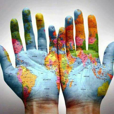 World Map On Hands.World Map Hands Photography Of Anything Pinterest World