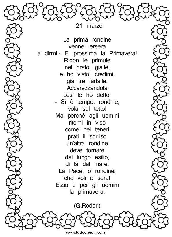Gianni Rodari 21 Marzo Poesia Filastrocche E Brevi Poesie