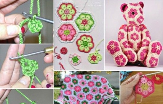 African Crochet Flower Pattern Projects African Flowers Free
