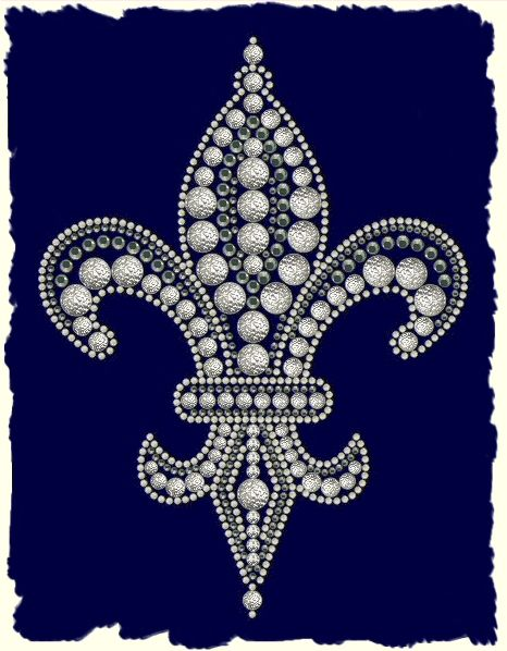 Fleur De Lis This Multi Textured Design Is Made Up From Textured
