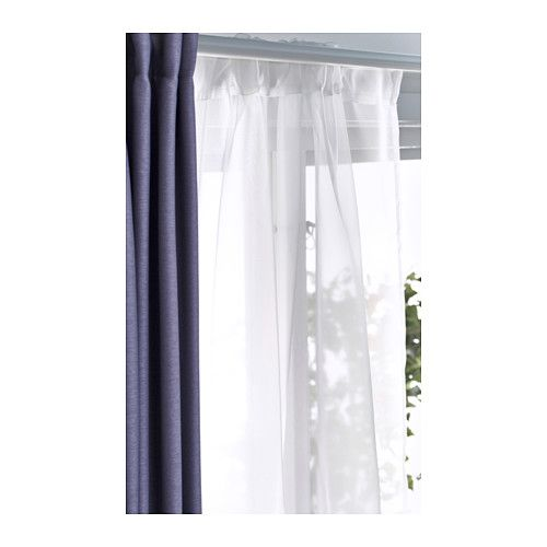 IKEA TERESIA Sheer Curtains, 1 Pair White Cm The Sheer Curtains Let The  Daylight Through But Provide Privacy So They Are Perfect To Use In A.
