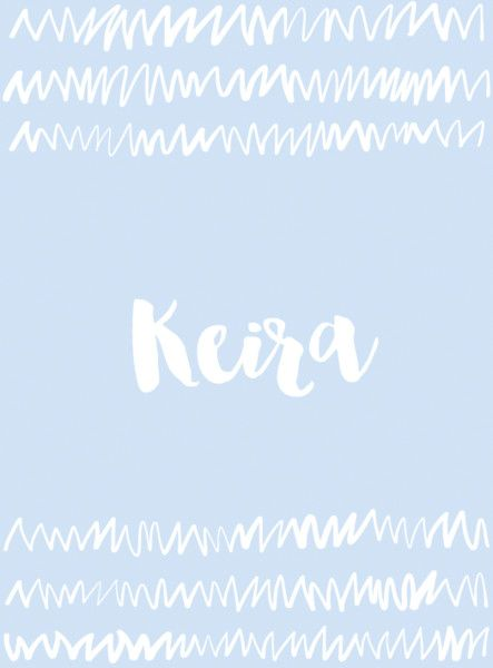 Keira is an Irish name that means 'little dark one.' (With ...