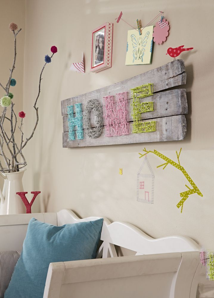 Kreative #Dekoration fürs #Wohnzimmer mit 5 Rollen Deko-Garn für