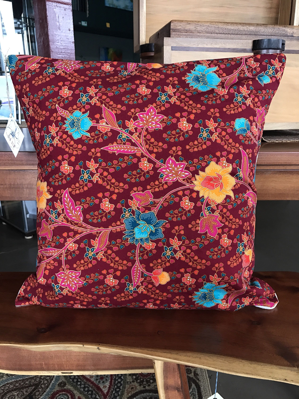 """Ula Ula Hawaiian pillow cover 19""""x19"""", vintage Hawaiian fabric ..."""