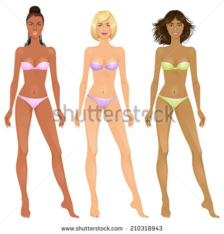 Fashion paper doll template paper dolls beautiful young for Paper doll template woman