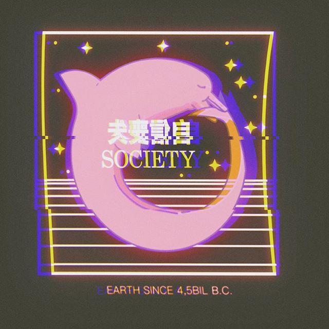 508ff583b0c8b Dolphins give love -  vaporart  vaporwave  lostboy  sadboys  japan   aesthetic