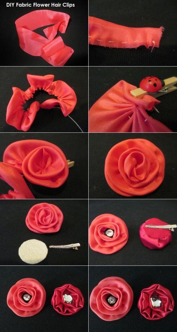 flor de tela con clip para el pelo by karyn
