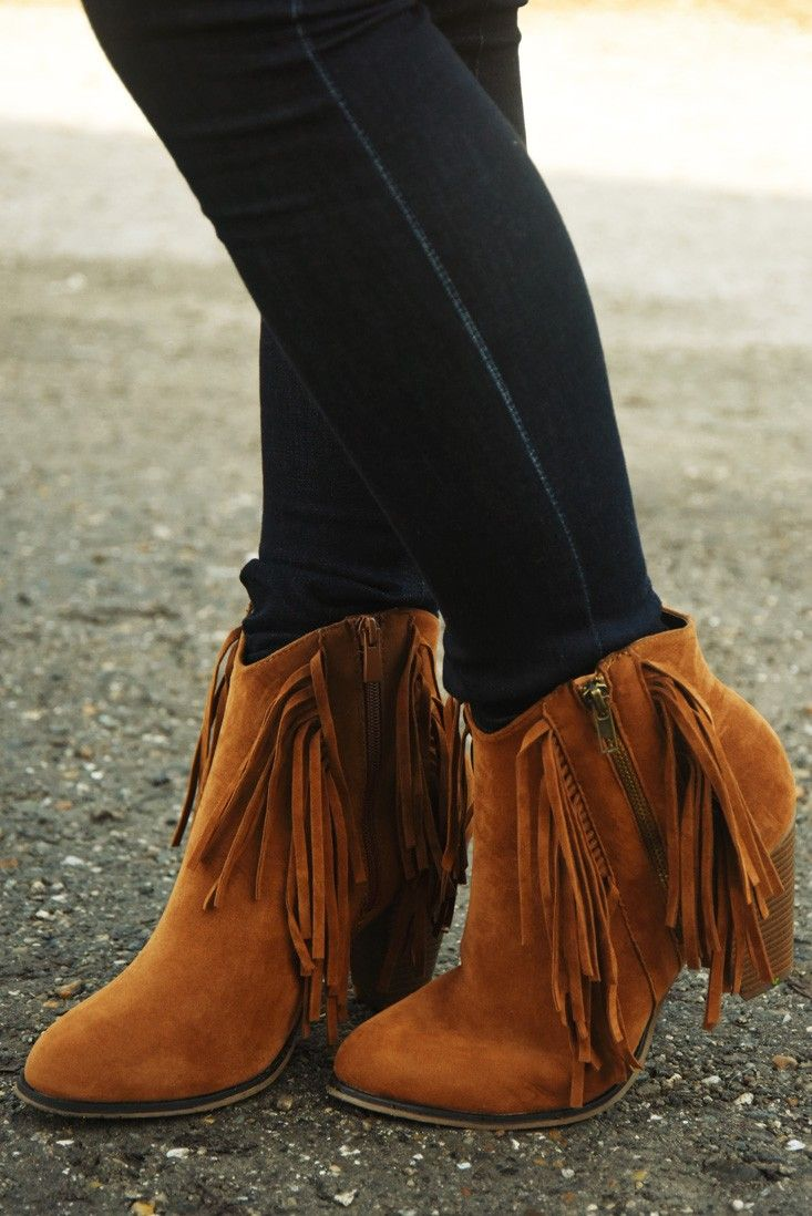 Ready For The Night Booties: Rust #shophopes