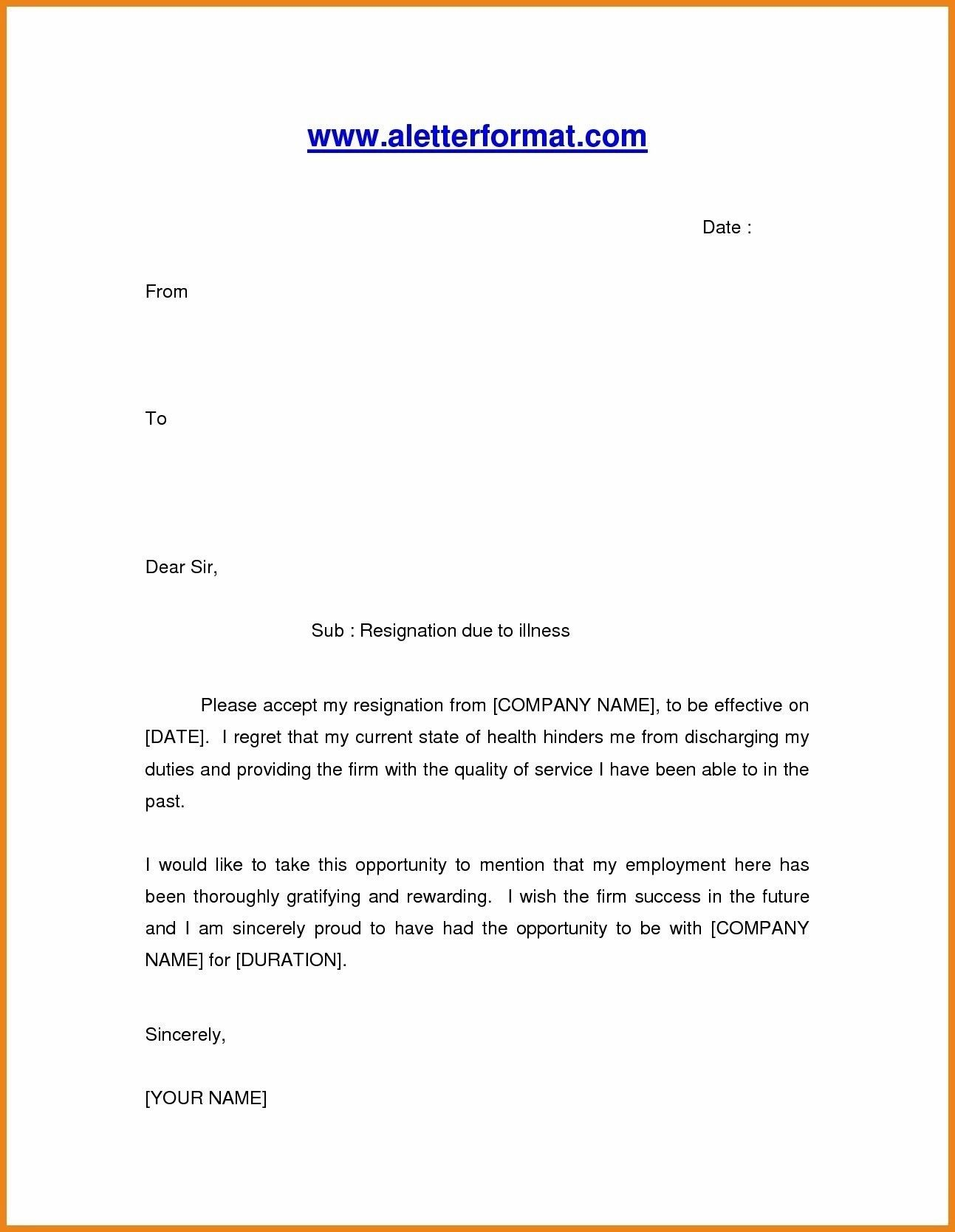 Best Refrence New Resignation Letter Due To Personal Reason By