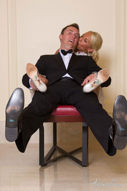 Wedding Shoe Sticker Set For The Bride Groom