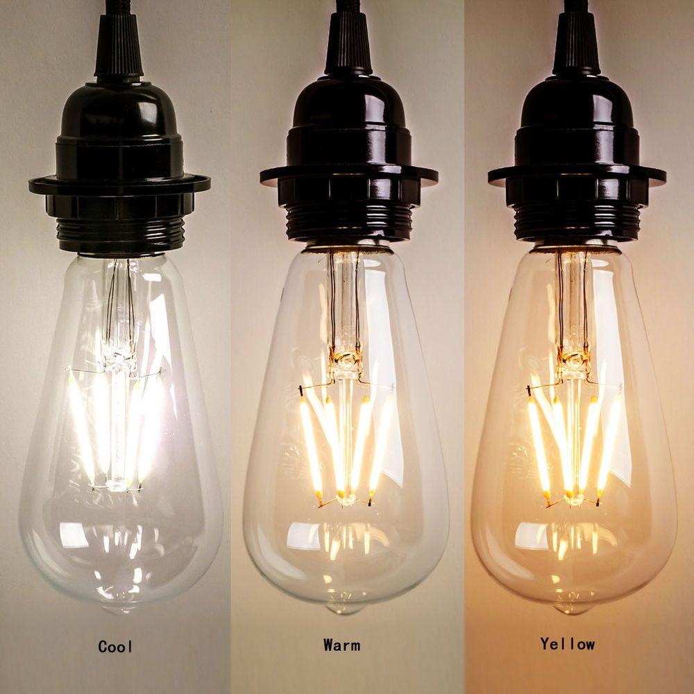 New Vintage Retro Edison E27 2w 8w Screw Led Filament Light Bulb St64 Globe Lamp Filament Bulb Lighting Vintage Led Bulbs Vintage Light Bulbs