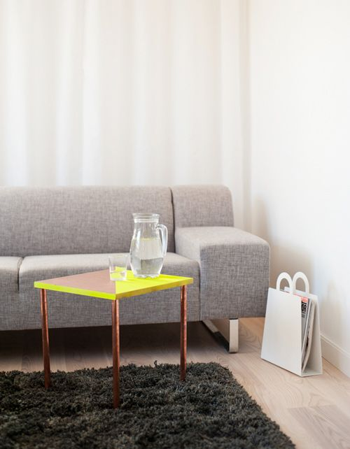 DIY Project: Copper Tubing Side Table