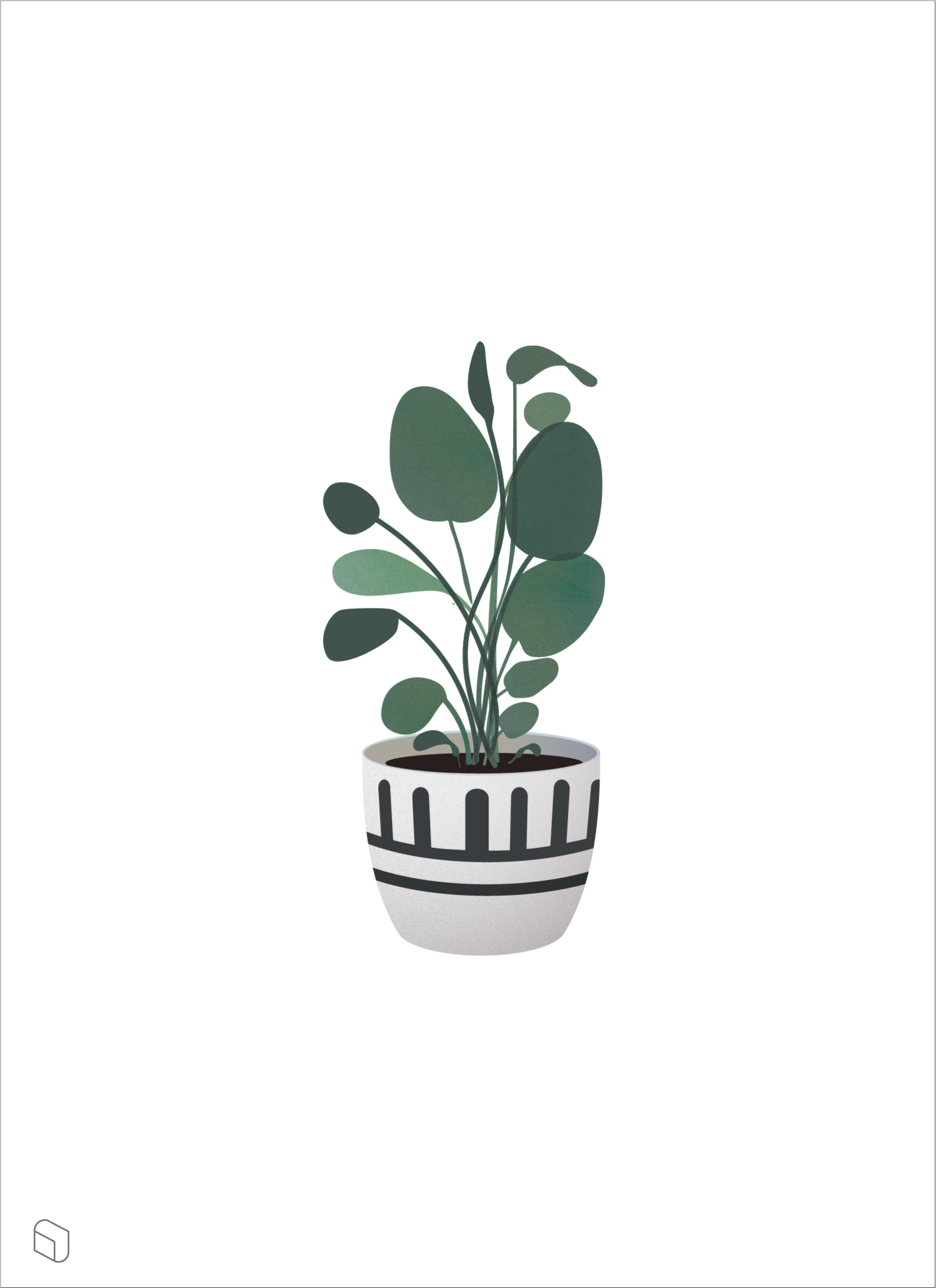 Flat vector indoor plants illustrations for architecture  amp interior design ai pdf cutout also pin by toffu on trees in plant illustration rh pinterest