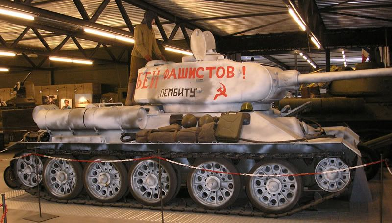 T34/85 MBT winter camouflage