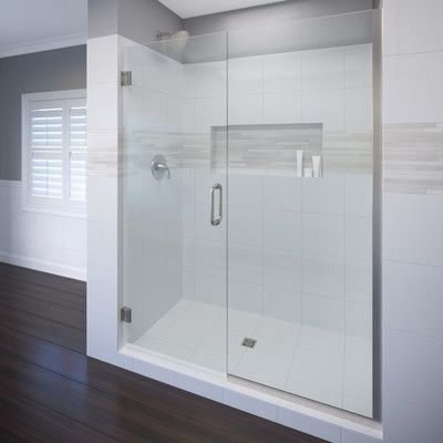 Basco Celesta 46 X 76 Hinged Adjustable Door And Panel Shower Door Shower Doors Frameless Shower Doors Frameless Shower