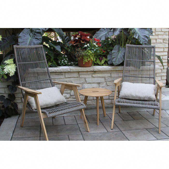 Largent Teak Patio Chair With Cushions Backyarddecksfurniture