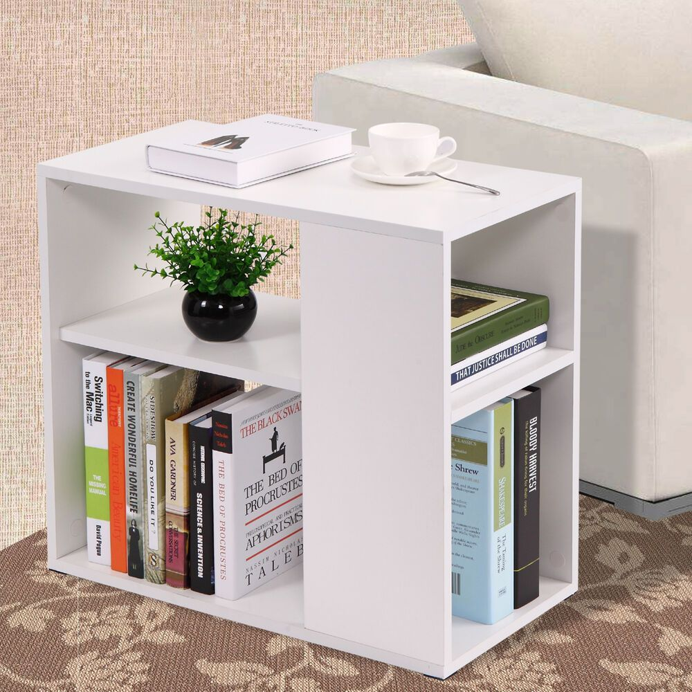 Coffee Tray Side Sofa Table Ottoman Couch Room Console Stand End Bookcase White Ottoman Table White Bookcase Sofa Table