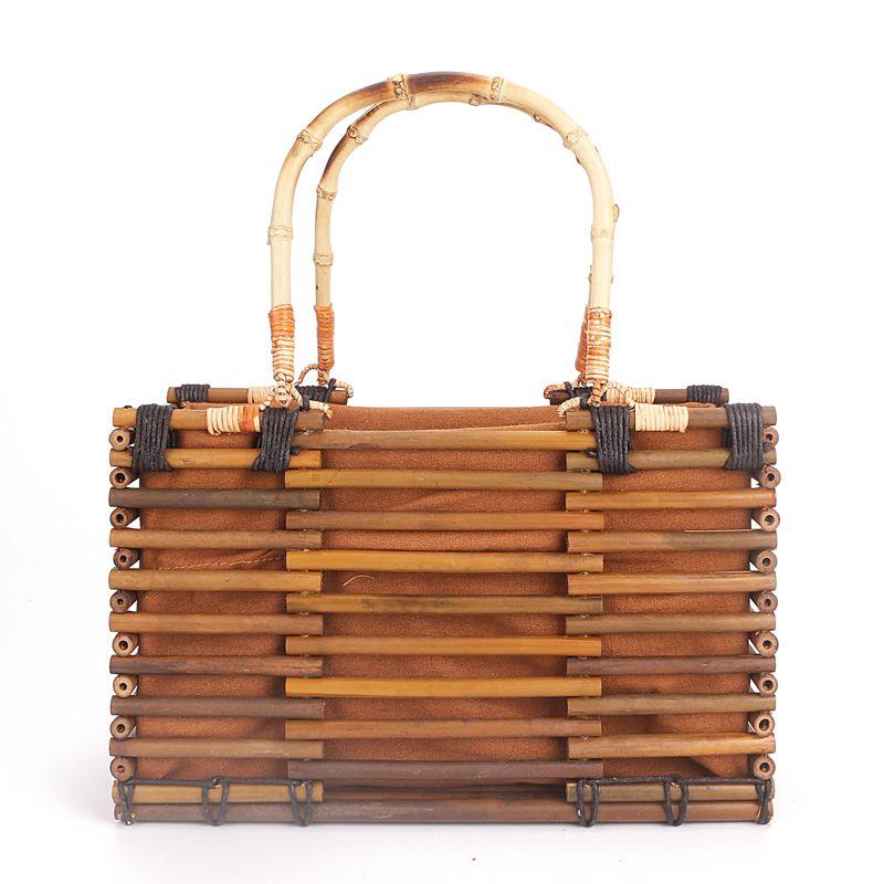 e85d571b56 Designer Beach Bags Small Fashion Bamboo Bag Women. Black Louis Vuitton