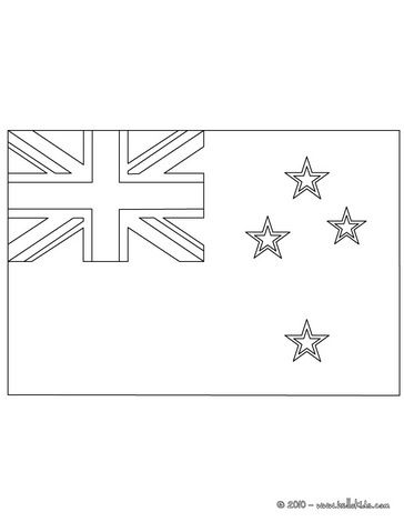 Flag Of New Zealand Coloring Page Flag Coloring Pages Sports