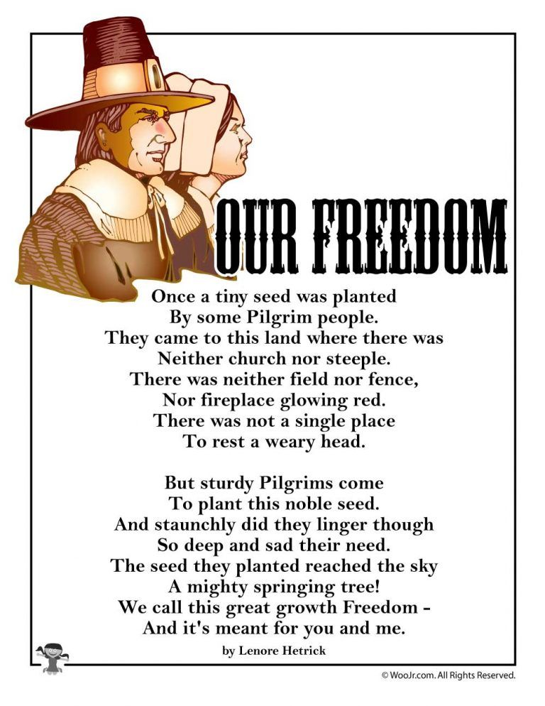 Our Freedom Poem for Kids | Woo! Jr. Kids Activities : Children's Publishing