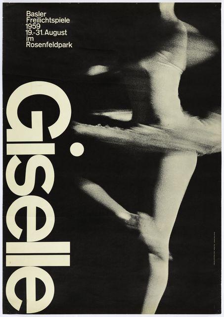 Photo of Armin Hofmann | Giselle Ballet, Basel poster (1959) | Artsy