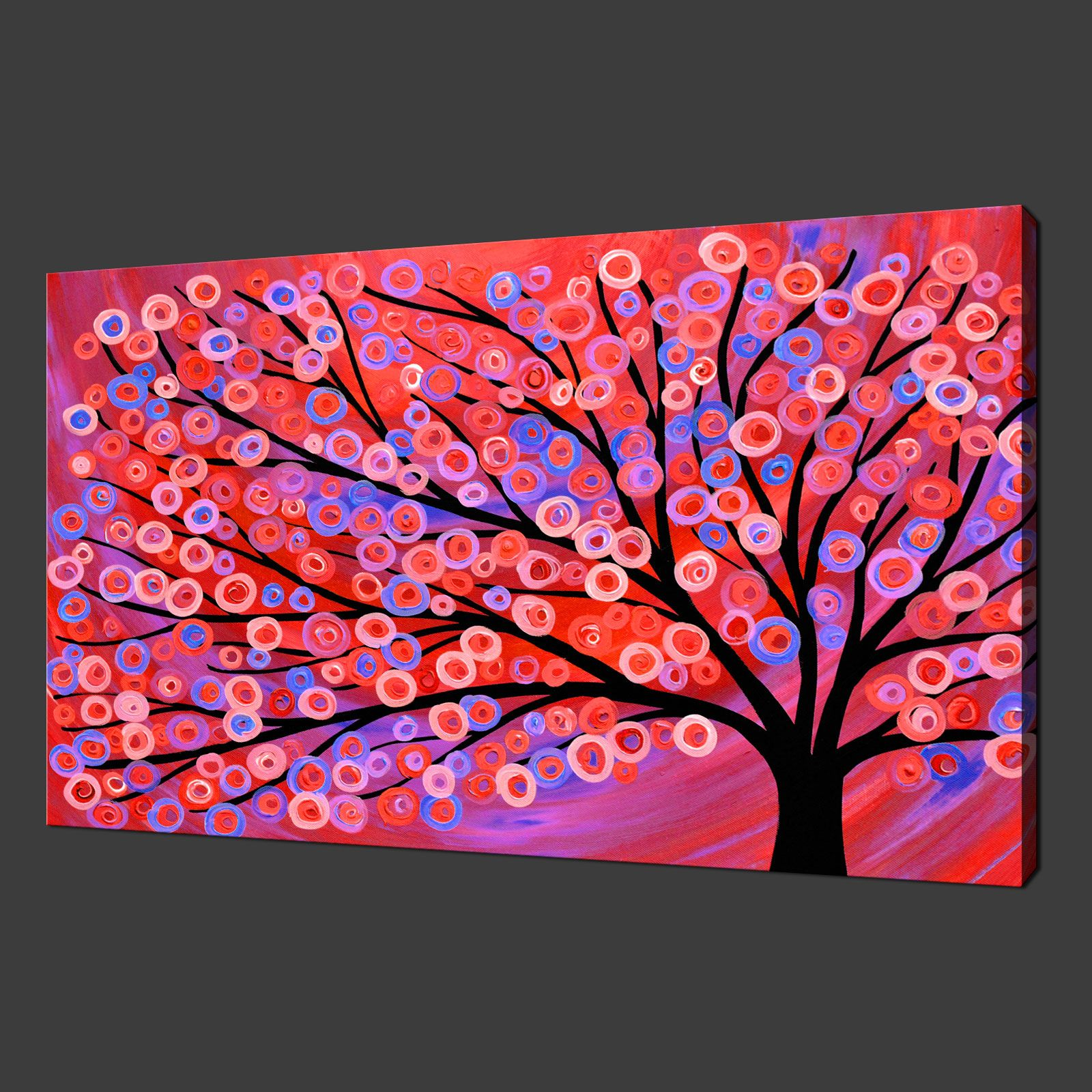 Abstract tree painting modern art canvas print poster many colours ...