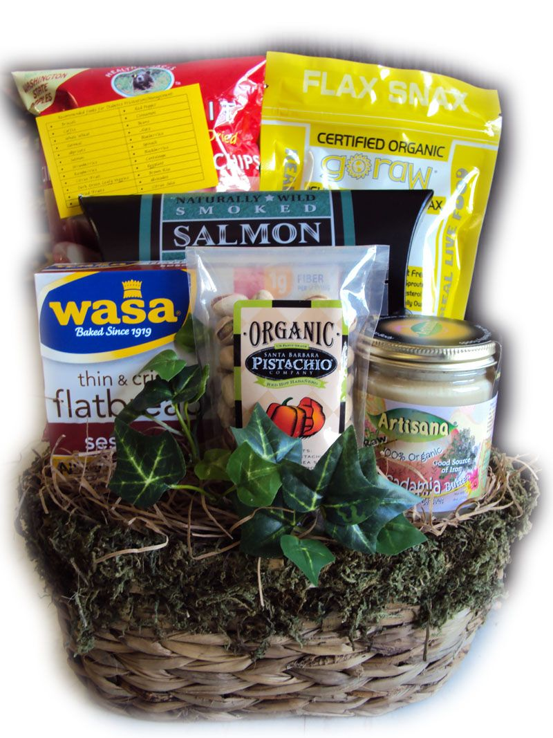 Diabetic fathers day healthy gift basket with images